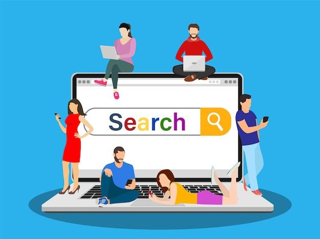 Concetto di barra di ricerca online
