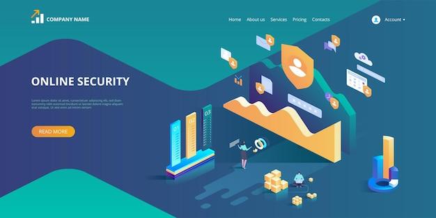 Sicurezza online, navigazione in internet sicura. concezione sulla protezione dei dati