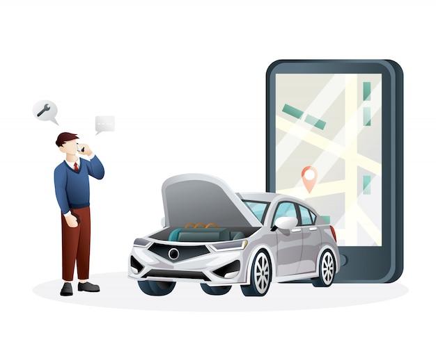 Illustrazione del servizio online Vettore Premium