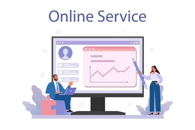 Servizio o piattaforma online per uomini d'affari