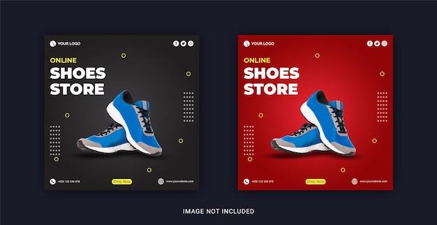 Negozio di scarpe online modello di banner per post sui social media
