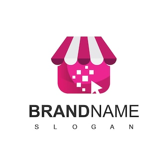 Modello di progettazione del logo del negozio online