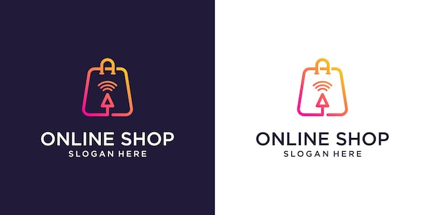 Modello di design del logo del negozio online