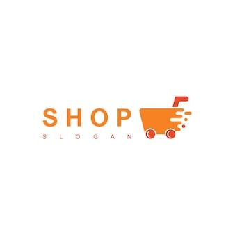 Modello di logo del negozio online