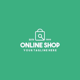 Modello di progettazione del logo premium del negozio online
