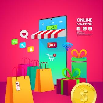 Banner di shopping online