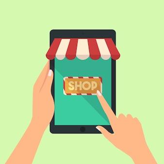 Vettore di concetto dello shopping online
