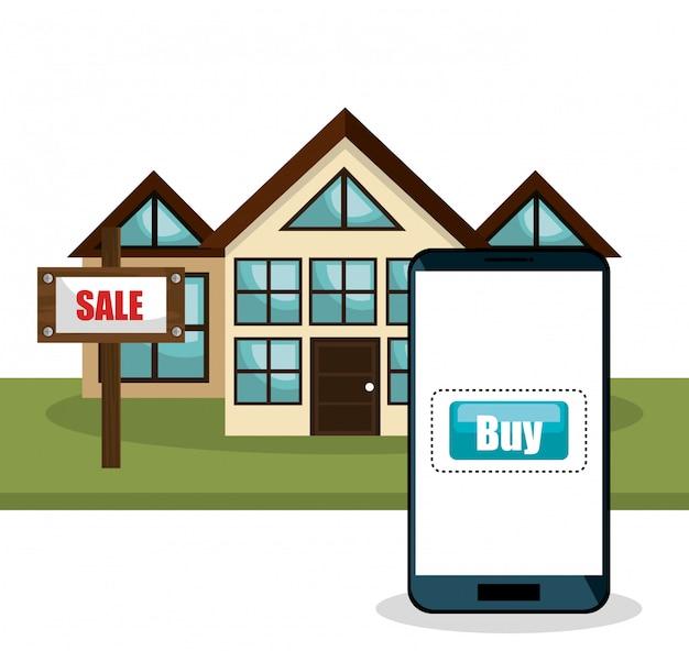 Lo shopping online e-commerce isolato
