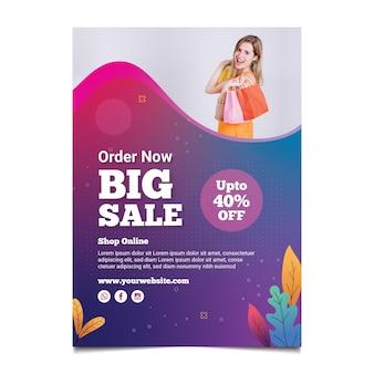 Volantino dello shopping online verticale