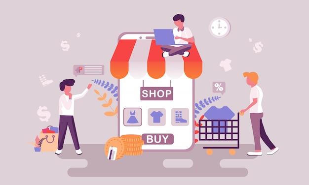 Illustrazione dello shopping online