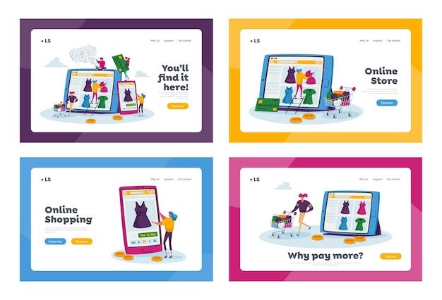 Set di modelli di pagina di destinazione dello shopping online