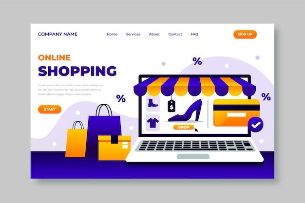 Modello di pagina di destinazione dello shopping online