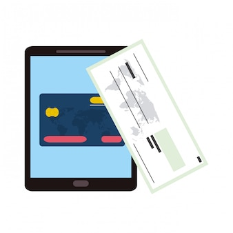 Acquisto e pagamento online Vettore Premium