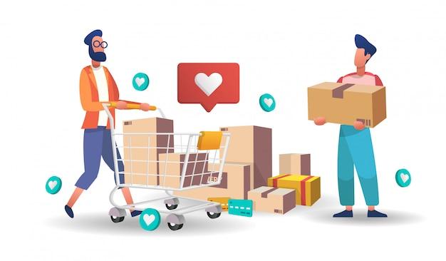 Modelli di shopping online con servizio telefonico per il servizio di consegna dello shopping online di alimenti e pacchetti