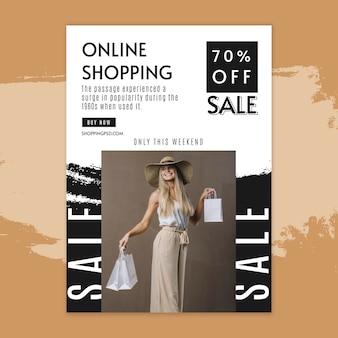 Volantino verticale dello shopping online
