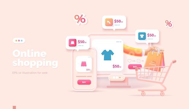 Acquisti online sul sito web e sull'app mobile
