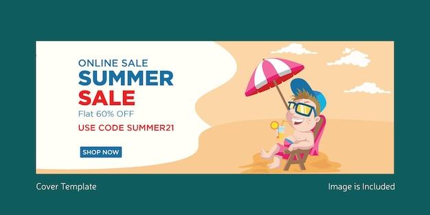 Design della copertina dei saldi estivi online