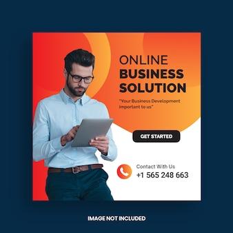 Onlinel business marketing post social media e modello di banner