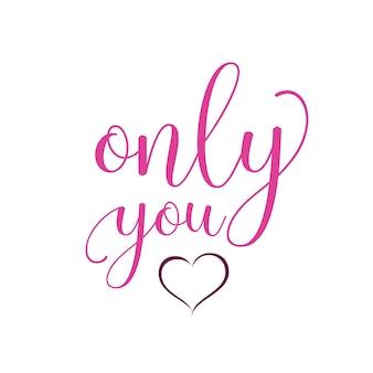 Solo tu che scrivi con il cuore