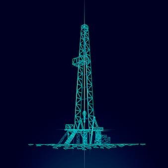 Piattaforma di produzione del gasolio a terra.