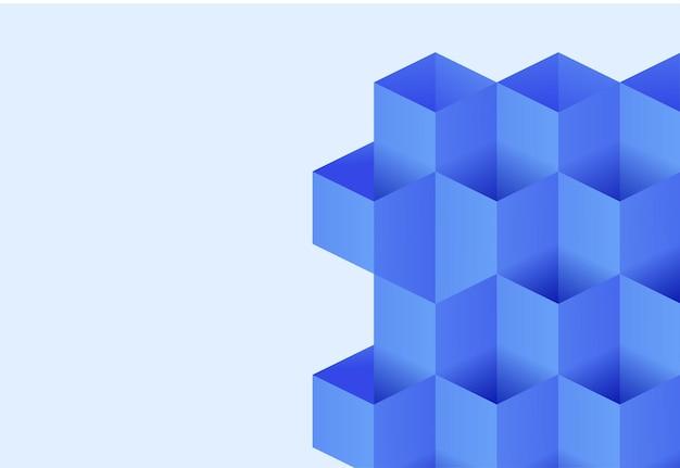 Illustrazione della priorità bassa di vettore di colore blu della geometria del blocco aperto