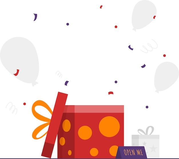 Confezione regalo aperta gift