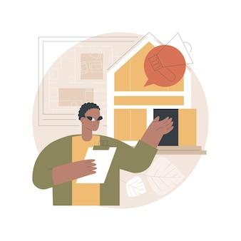 Illustrazione della casa aperta