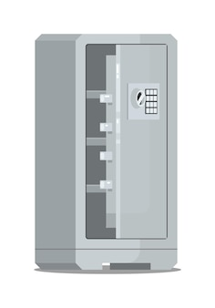 Cassaforte di stoccaggio di denaro in metallo aperto con serratura digitale isolata