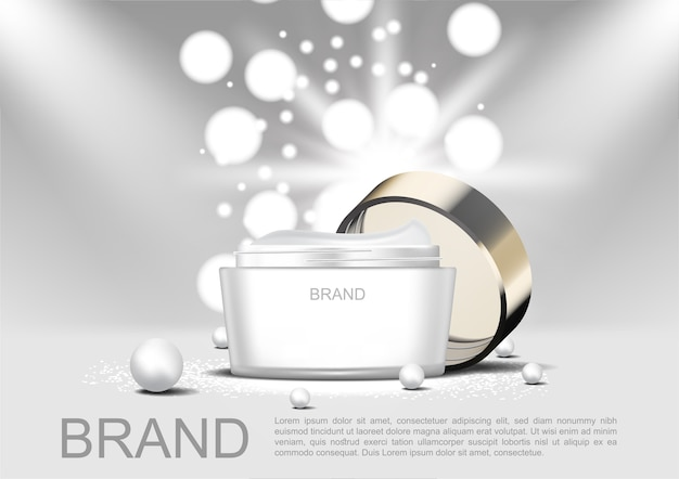 Crema cosmetica aperta