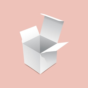 Mini scatola aperta mock up