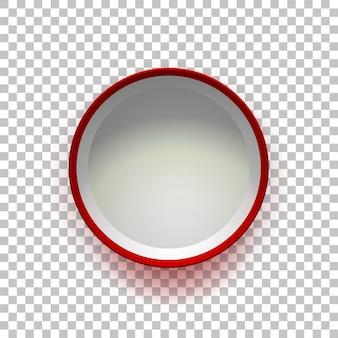 Scatola regalo vuota rossa aperta isolata su sfondo trasparente vista dall'alto