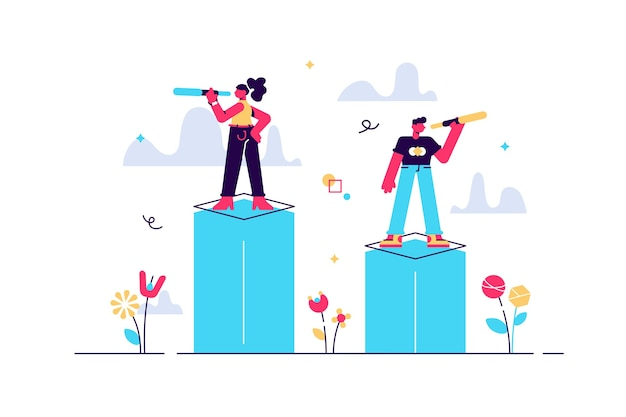 Opportunità come visione di opportunità per il target di business