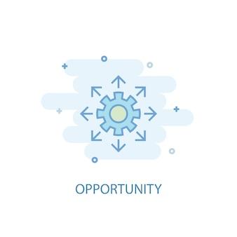 Concetto di linea di opportunità. icona della linea semplice, illustrazione colorata. design piatto simbolo di opportunità. può essere utilizzato per ui/ux