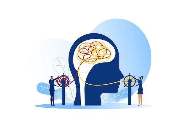 Il caos mentalità opposto e l'ordine nel concetto di pensieri.