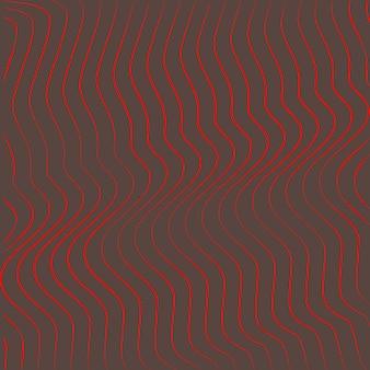 Disegno di onde di sfondo astratto di arte ottica
