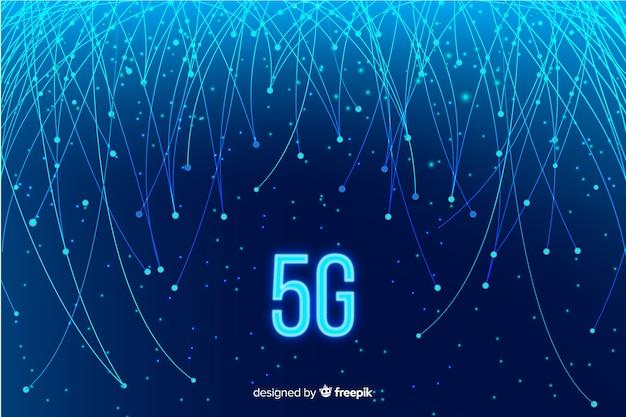 Cavi in fibra ottica per sfondo concetto 5g