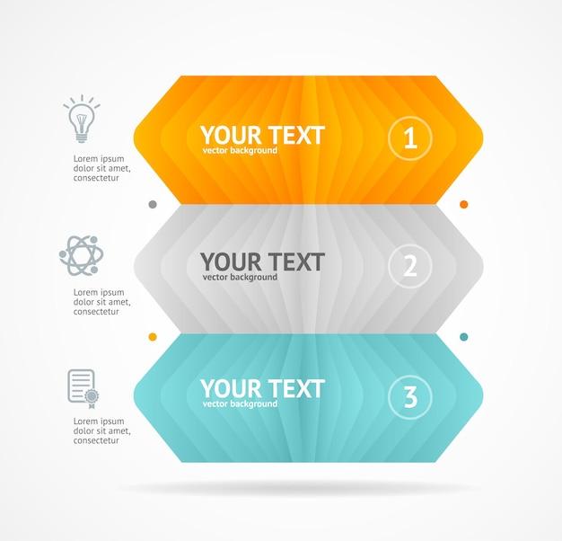 Opzione banner concetto infografica