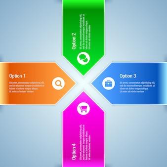 Banner di opzione. infografica minima.