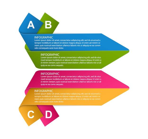 Opzioni infografica, sequenza temporale, modello di progettazione per presentazioni aziendali.
