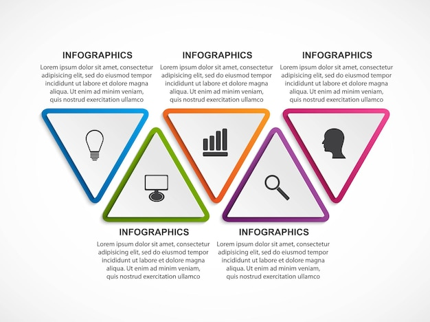 Modello di infografica opzioni.