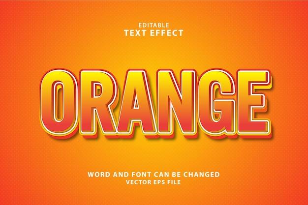 Effetto di testo modificabile colorato 3d arancione