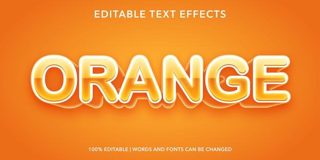 Effetto testo modificabile in stile 3d arancione