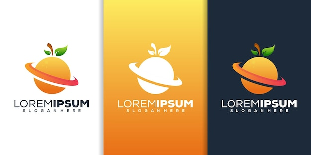 Design del logo sfumato di colore arancione