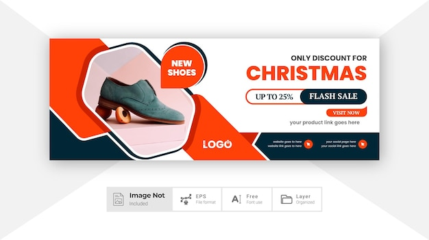 Layout del modello di progettazione dell'insegna della copertura dei social media della moda moderna di colore arancione