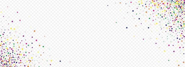 I coriandoli arancioni celebrano lo sfondo trasparente panoramico. effetto splash design. carta del cerchio di natale. invito superiore brillare arcobaleno.