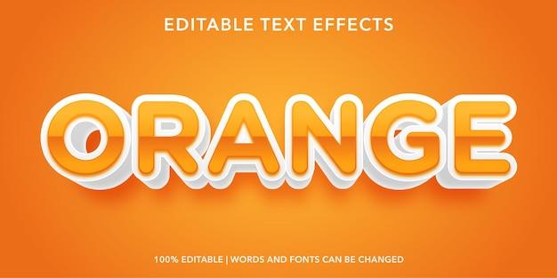 Effetto di testo modificabile arancione Vettore Premium