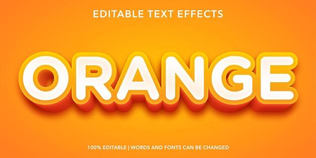 Effetto di testo modificabile arancione