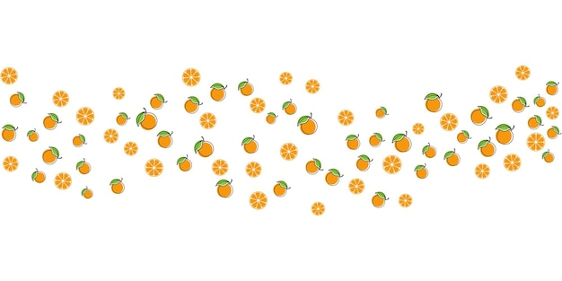 Illustrazione di progettazione di sfondo di frutta arancione template