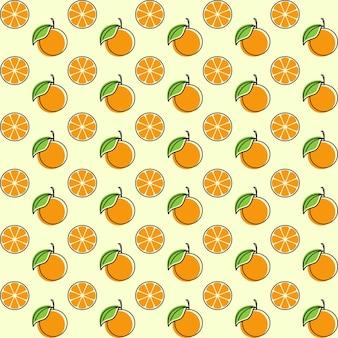 Illustrazione di design senza cuciture di frutta arancione template orange