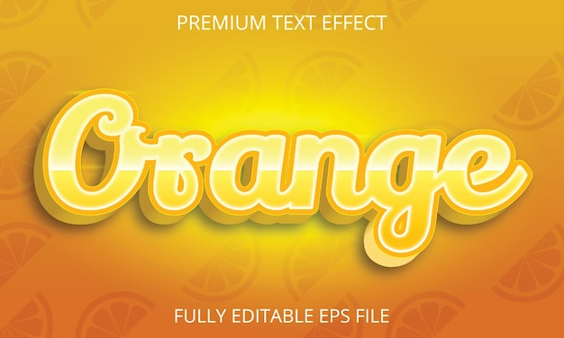 Effetto di testo arancione completamente modificabile